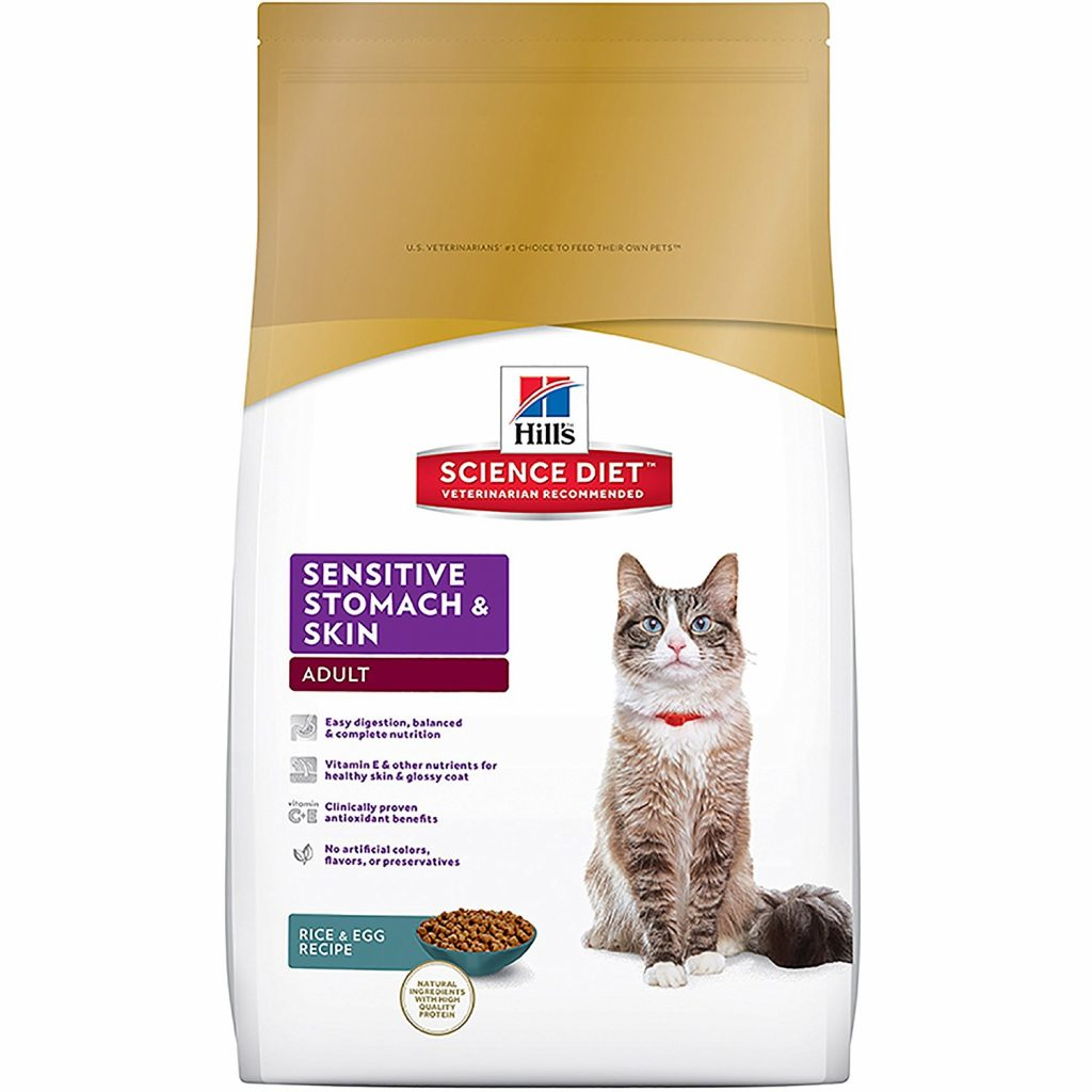 Sensitive Stomach Cat Food - Hill's Science Diet Sensitive Stomach and Skin Dry Cat Food – Rice & Egg Recipe