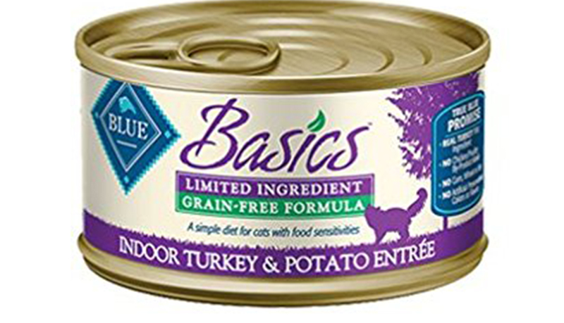Sensitive Stomach Cat Food - Blue Buffalo Basics Grain-Free Indoor Turkey & Potato Entree For Adult Cats