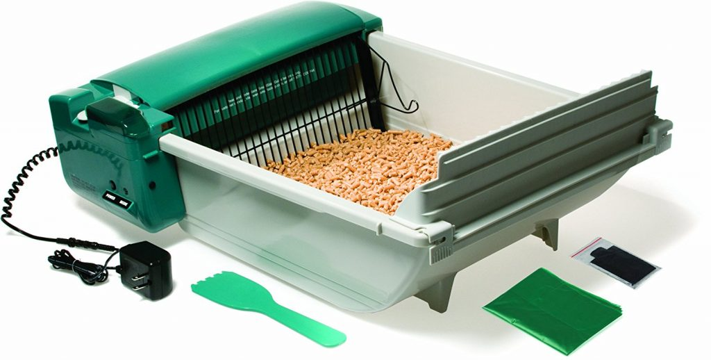 Cat litter scoop automatic box