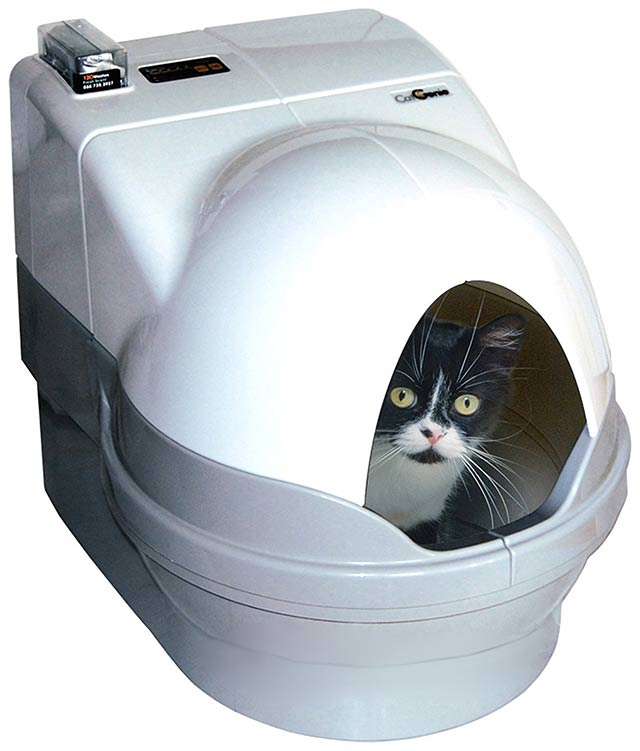 the catgenie can be fitted with a dome