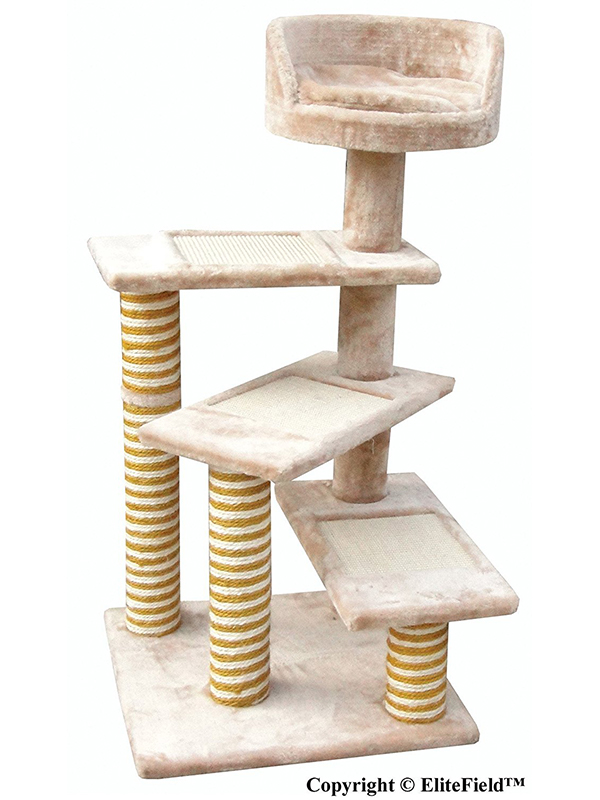 Best cat towers top tips and reviews for making the for Cat tree steps