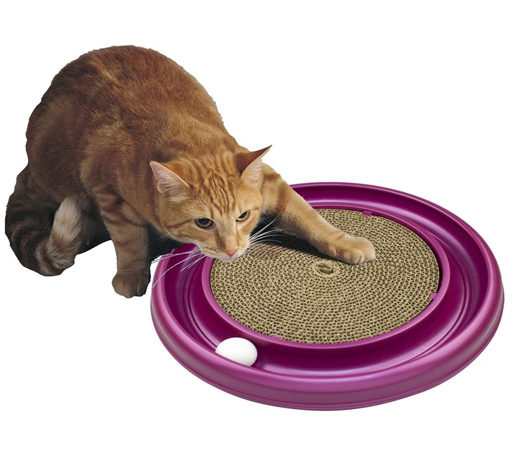 YVYOO Interactive Cat Toy IQ Treat Ball Smarter Pet Toys Food Ball Food Dispenser For Cats